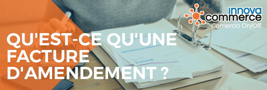 Qu'est-ce qu'une facture d'amendement ?